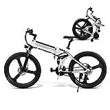 Coolautoparts Bicicleta Eléctrica PLEGABLE 350W/500W 26 Pulgadas 32km/h para Hombres Mujeres de Aluminio Bicicleta de Montaña/Carretera con 48V 10AH Batería Removible Shimano 21 Velocidades [EU Stock]