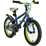 BIKESTAR Bicicleta Infantil para niños y niñas a Partir de 4 años   Bici de montaña 16 Pulgadas con Frenos   16' Edición Mountainbike Azul