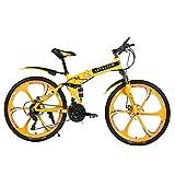 Bicicleta de montaña Altruism de 26 pulgadas, para hombres y mujeres, con freno de disco delantero y trasero, X9, amarillo